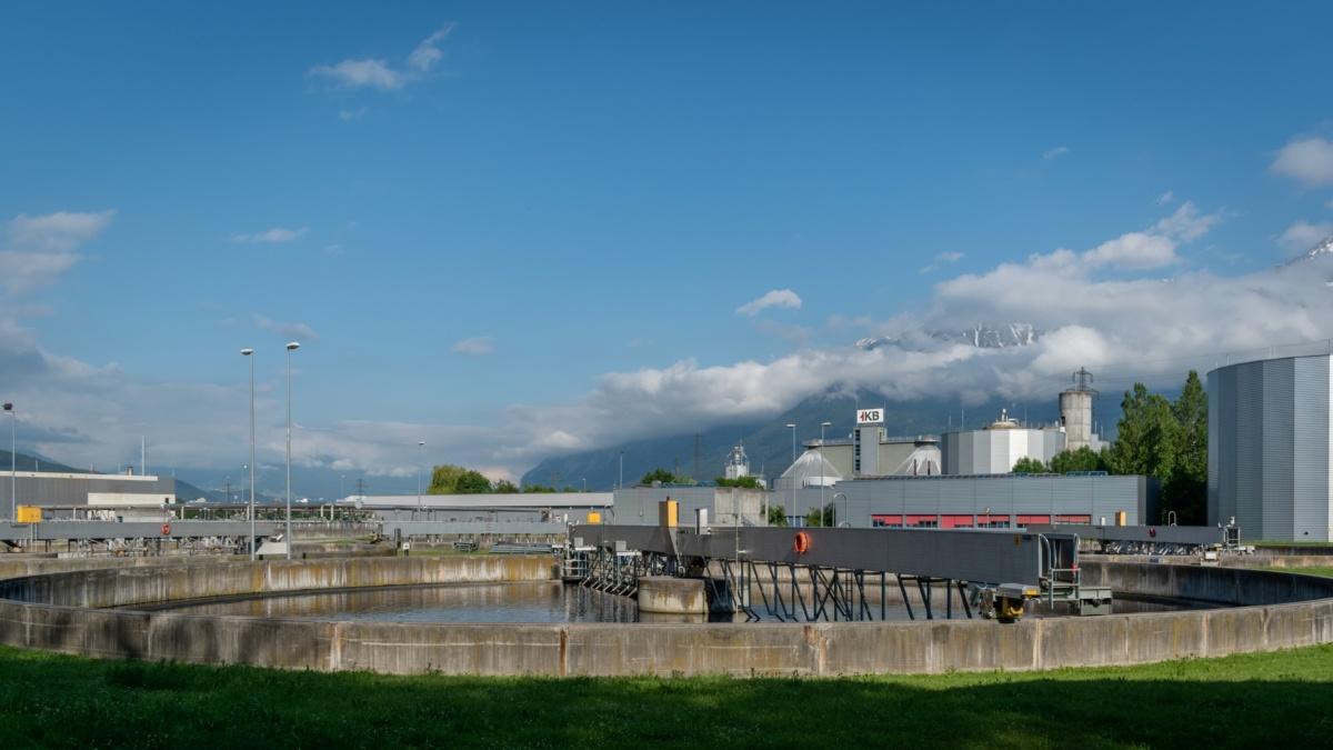 Sedimentation tank, Innsbruck wastewater treatment plant
